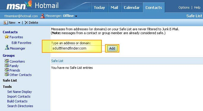Hotmail dating site