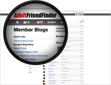 AdultFriendFinder is a hot adult sex site that helps members find free adult dates and hook ups