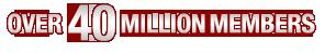 Over 40 million members