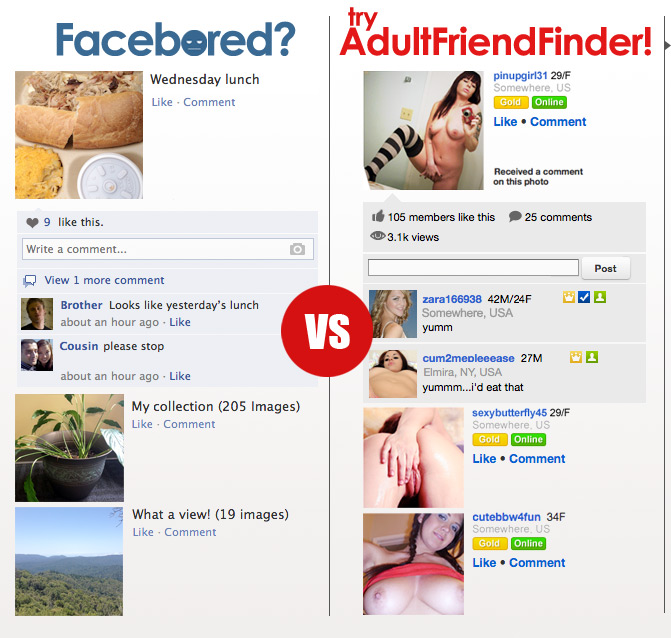 AdultFriendFinder member using our adult social network to find a fuck buddy